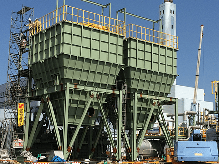 Sludge retention Hopper for Kitakyushu-shi